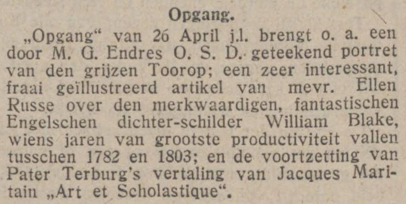 Opgang 1924.