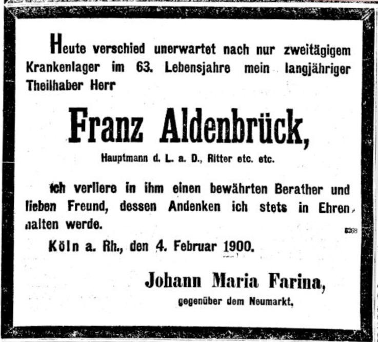 Het eerlijk plagiaat van Aldenbrück, h.o.n. J.M. Farina